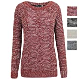 AXTokyo Ladies Womens Cable Knit Jumper Chunky Dapple Knitted Jumpers Sweaters UK 8 - 14