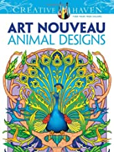 Dover Creative Haven Art Nouveau Animal Designs Coloring Book (Creative Haven Coloring Books)