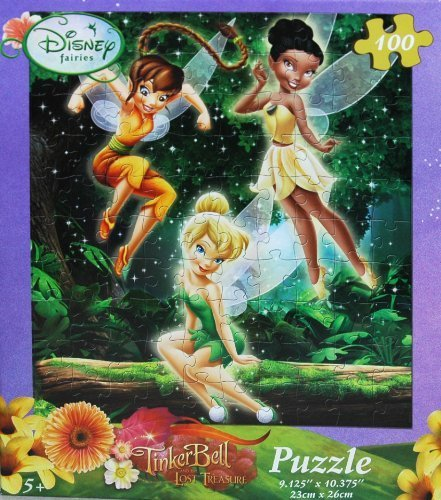 Disney Fairies Tinkerbell 100-Piece Jigsaw Puzzle (Spring in the Forest) - 1