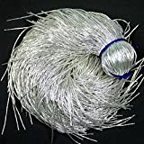 French Bullion Wire(Nakshi), Silver Color, 0.7MM, 54.86 Mtr(100 Gram) (Tamaño: 50 Yard/Packet)