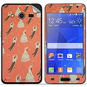 GsmKart SGC2 Mobile Skin for Samsung Galaxy Core 2 (Orange, Galaxy Core 2-890)