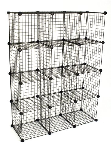 KC Store Fixtures 04120 Mini Grid Clothes Organizer, 3-Foot by 4-Foot,