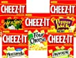 Cheez-It, Baked Snack Crackers, 5 Flavor VARIETY PACK: 1 box of HOT & SPICY, 1 box of PEPPER JACK, 1 box of FOUR CHEESE, 1 box of MOZZARELLA, 1 box of PROVOLONE. 12.4 oz boxes. (5 PACK)