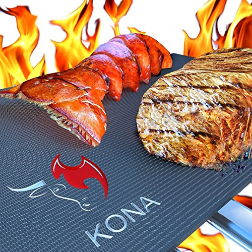 Kona Grill Mats(TM) - 7 Year Guarantee - Heavy Duty 600 Degree Non-Stick BBQ Grill Mat (Set of 2) (Bbq Mate Grill Set compare prices)