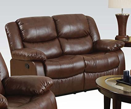 ACME 50011 Fullerton Bonded Leather Loveseat, Brown