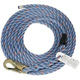 MSA Safety 10096516 Rope Polysteel with Snaphook, 50-Foot