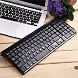 Susans Full Size Bluetooth Keyboard W Numeric Keypad for Windows Android iOS PC Tablet Smartphone (Apple iPad Air, iPad 4 / 3 / 2, iPad Mini 2, iPad Mini, iPhone 5S /5C /5 , iPhone 4S/4,Galaxy Tab ,Galaxy Note, Microsoft Surface & More)-Black
