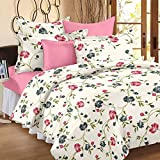 Ahmedabad Cotton Premium Cotton Sateen King Size Bedsheet With 2 Pillow Covers