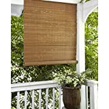 Metro Shop Fruitwood Brown Outdoor Roll Up Patio Shade