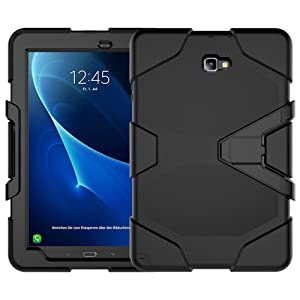 Samsung Galaxy Tab A 10.1 With S Pen(P585/P580) Case, Beimu 3in1 Kickstand Feature Heavy Duty Shockproof Impact Resistant Rugged Armor Defender Protection Case with Screen Protector