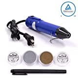 mofa Heat gun,Mini Hot Air Gun Tools Shrink Pen with Stand For DIY Embossing And Drying Paint Multi-Purpose Electric Heating Nozzle 130W 110V (Blue,Black) (Color: Blue,Black)