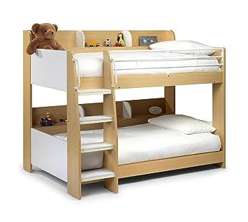 Domino Bunk Bed With Shelves Maple Unique Design Ladder Steps