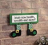 Leprechaun Feet Sign - Home & St Patrick's Day Decor