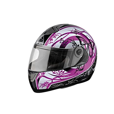 Airoh - Casque - ASTER-X BUTTERFLY - Couleur : Rose - Taille : M