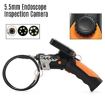 High-Tech Place High-Tech Place 5.5mm Endoscope Inspection Camera - 1 Meter Long, 1/3 Inch CMOS Sensor, 720P Video, 3.5 Inch Monitor, DVR