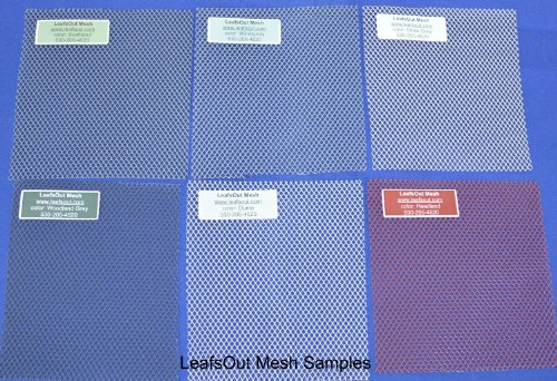 SAMPLE: Aluminum Mesh Gutter Guard, LeafsOut 6 Colors. Install it yourself Leaf Guard Gutter Covers Protection Screen