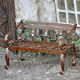 Lawn &amp; Patio - Miniature Fairy Garden Mini Garden Bench, Rustic