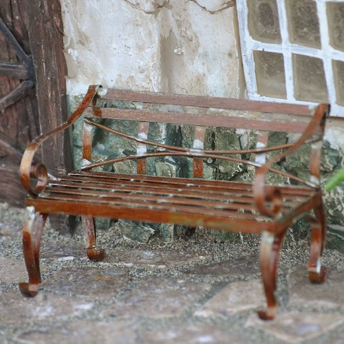 Miniature Fairy Garden Mini Garden Bench, Rustic
