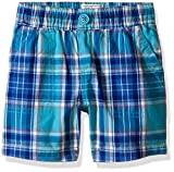The Children's Place Boys' Plaid Shorts, Frost Blue, 18-24 Months