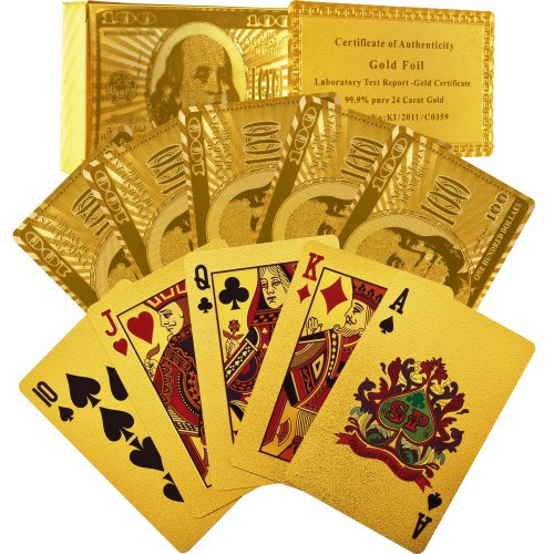 Lowest Prices! Trademark Poker 24k Gold Playing Cards