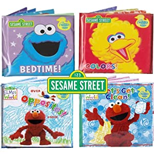Amazon.com: Sesame Street® Bath Time Bubble Books Featuring the
