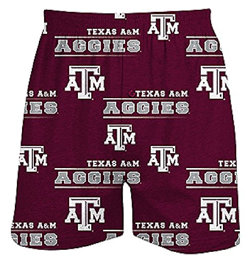 Texas A&M Aggies Mens Maroon Oversized Fusion Boxer Shorts