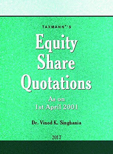 Direct Taxes Ready Reckoner with Equity Share Quotations
