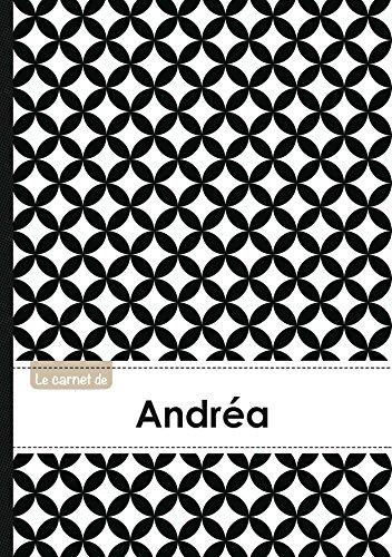 Le carnet d'Andréa - Lignes, 96p, A5 - Ronds Noir et Blanc (Adulte)