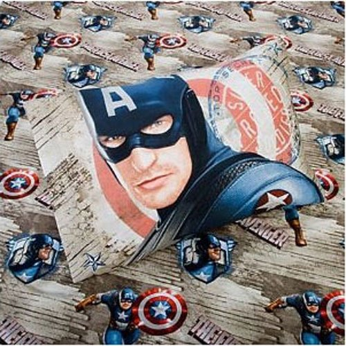 Captain America Marvel Comics Twin Bed Sheet Set