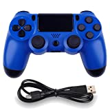Wireless Controllers for PS4 Playstation 4 Dual Shock Six-axis,Bluetooth Remote Gaming Gamepad Joystick (Blue) (Color: Blue)