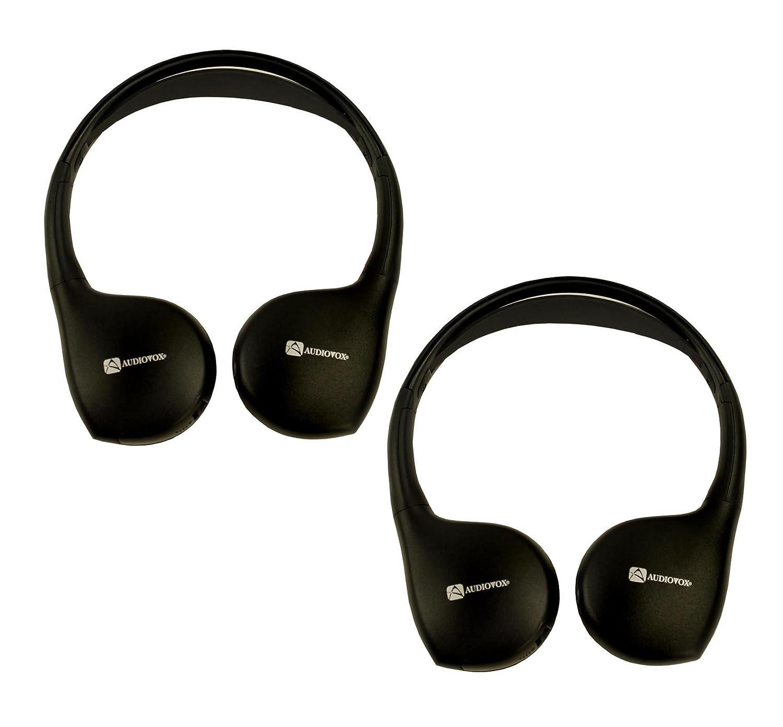 2 Pairs Audiovox Ir1cff Fold Flat Wireless Automotive Infrared Stereo Headphones