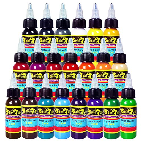 Solong Tattoo® 21 Basic Colors Tattoo Ink Set Pigment Kit 1