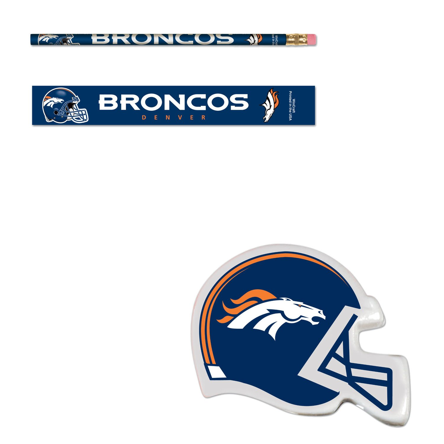 bundle-denver-broncos-six-6-erasers-six-6-pencils