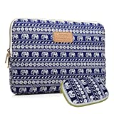 Kayond KY-23 Canvas Fabric Sleeve for 15.6-Inch Laptops - Elephant Patterns