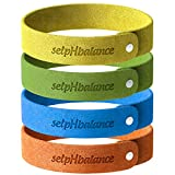 Mosquito Repellent Bracelets 12pcs, 100% All Natural Plant-Based Oil Non-Toxic Waterproof, Safe Deet-Free Band, Soft Fiber Material for Kids & Adults Keeps Insects & Bugs Away For 240 Hours