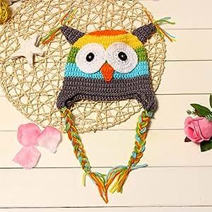 NEW Infant Crochet Owl Hat (Gray)