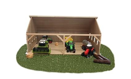 Kids Globe - 610223 - Maquette - Hangar En Bois pour tracteurs - Echelle 1:32