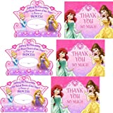 Disney Very Important Princess Dream Party Invitations and Thank You Notes - 24 Guests