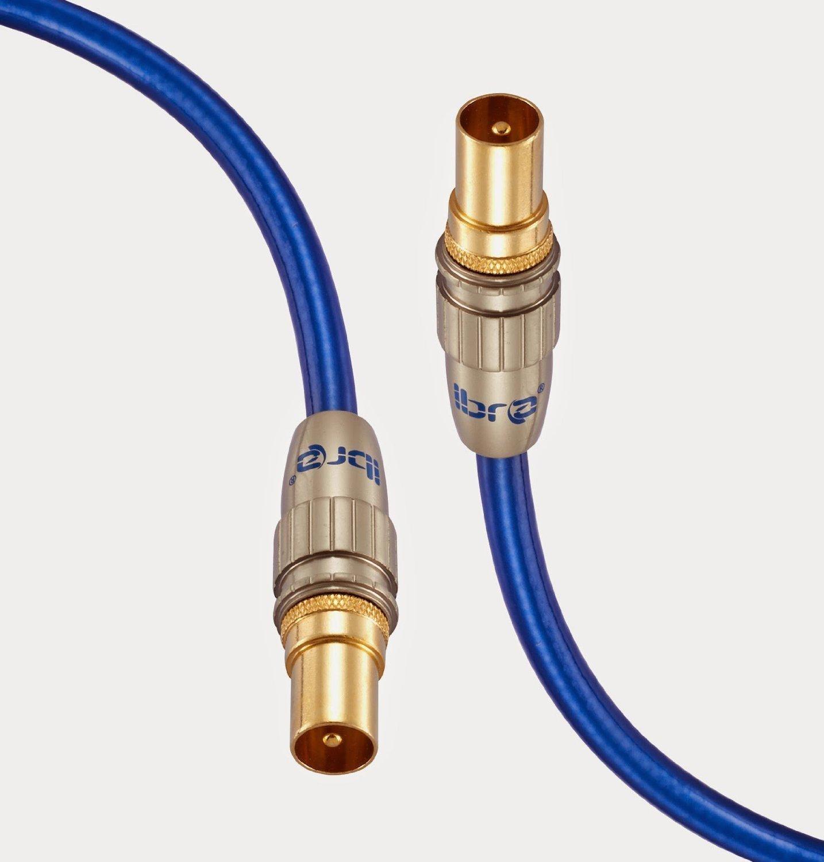 Ibra 5m premium tv par antenne uhf rf tnt c ble coaxial 5 m tres ebay - Cable antenne tnt ...