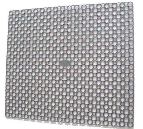 Whitefurze Grey Square Sink Mat Drainer 35 cm x 39 cm by My Bargains Online Shop
