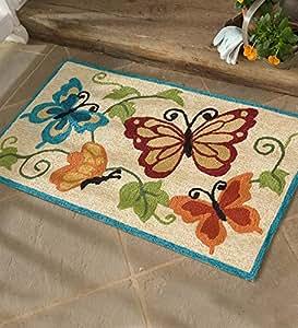 Amazon Indoor Outdoor Butterfly Accent Rug