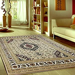 traditional beige living room area rug size