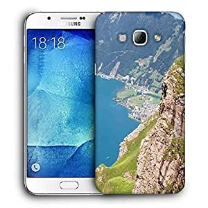 Snoogg Mountain View From The Top Printed Protective Phone Back Case Cover For Samsung Galaxy A8