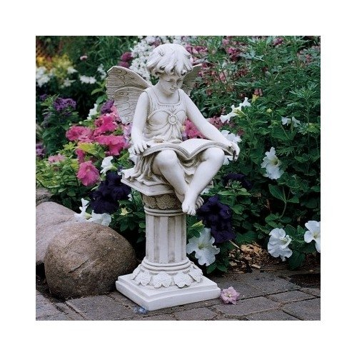 reading fairy garden statue garden statues garden. Black Bedroom Furniture Sets. Home Design Ideas