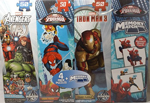 Marvel 4 Pack Puzzles and Memory Match Game