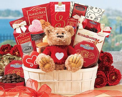Send Fresh Cut Flowers - From the Heart Gift Basket Mixed Gift Basket