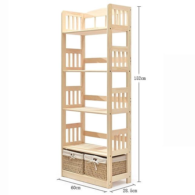 XIAOXIAO Libreria Libreria multifunzione in legno massello Libreria a più strati Facile da spostare ( dimensioni : 60*28.5*152cm )