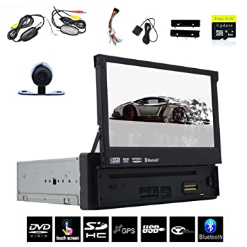 Dans Dash 1 din 4.4 voiture Android dvd Player avec / SD Headunit panneau avant amovible GPS stšŠršŠo voiture Radio 7 pouces Bluetooth USB