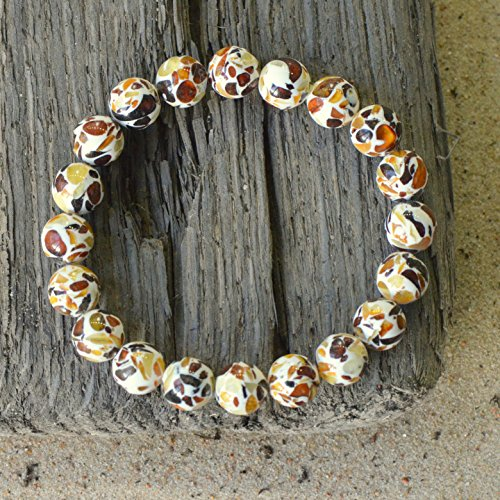 Stylish Bracelet for Women with Baltic Amber Beads - 1