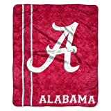 "NCAA Alabama Crimson Tide 50-Inch-by-60-Inch Sherpa on Sherpa Throw Blanket ""Jersey"" Design"
